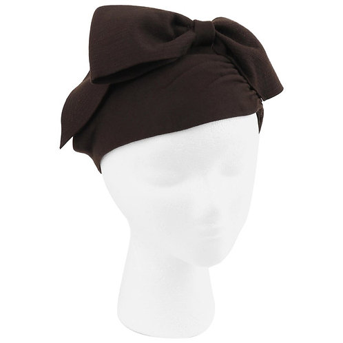 Florence Millinery Couture Bow Turban Hat