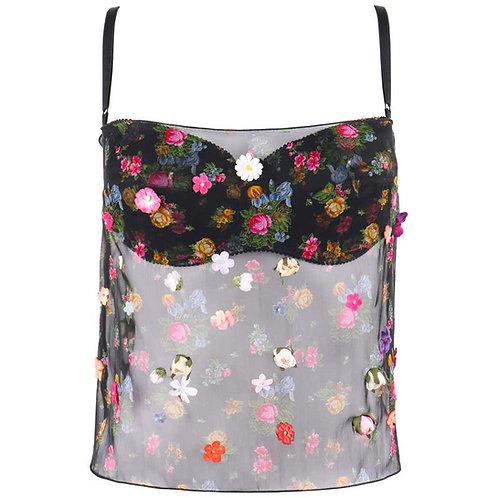 Dolce & Gabbana Floral Applique Camisole