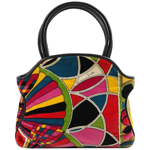 Emilio Pucci Stained Glass Velvet Purse