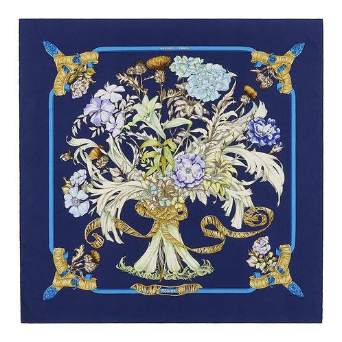 "Hermes ""Regina"" Royal Bouquet Scarf"