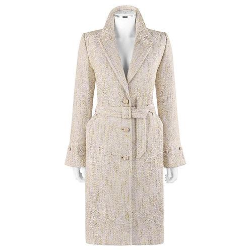 Bill Blass Tweed Belted Overcoat