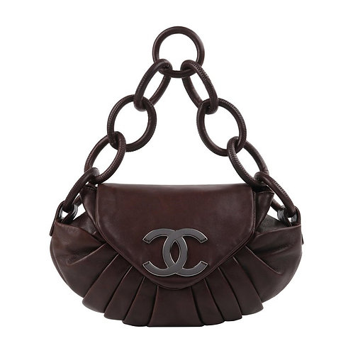 Chanel Lambskin Pleated Shoulder Bag