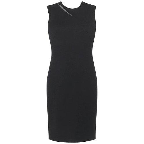 Versace Black Mesh Inset Dress