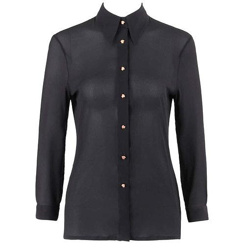 Gianni Versace Silk Chiffon Shirt