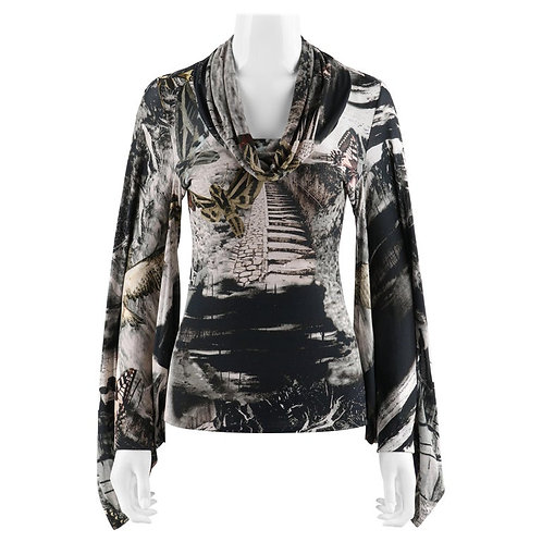 Alexander McQueen Cape Sleeve Top