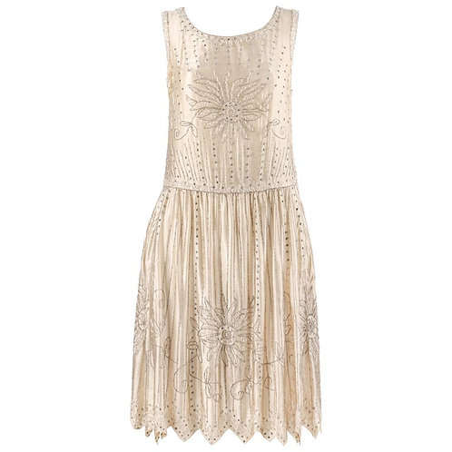 Couture c.1920's Beaded Flapper Dress