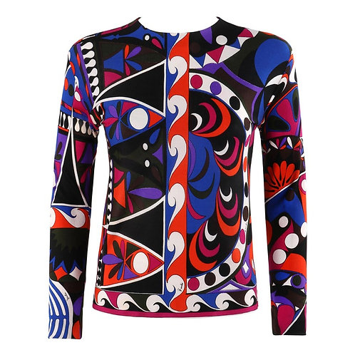Emilio Pucci Abstract Jersey Top