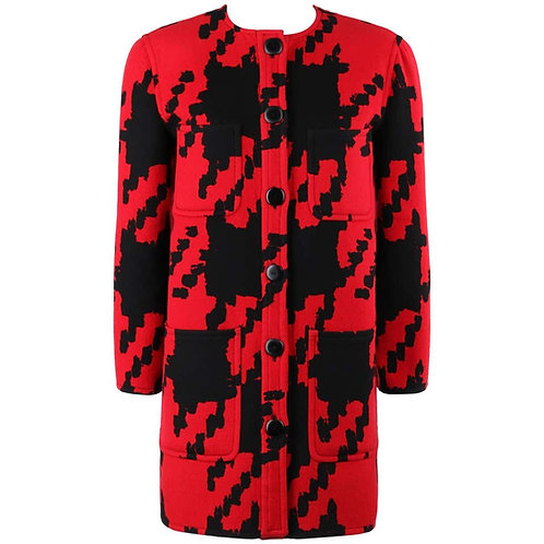 Valentino Houndstooth Car Coat