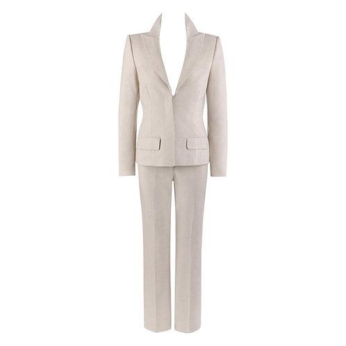 Alexander McQueen 2pc Blazer Pant Suit