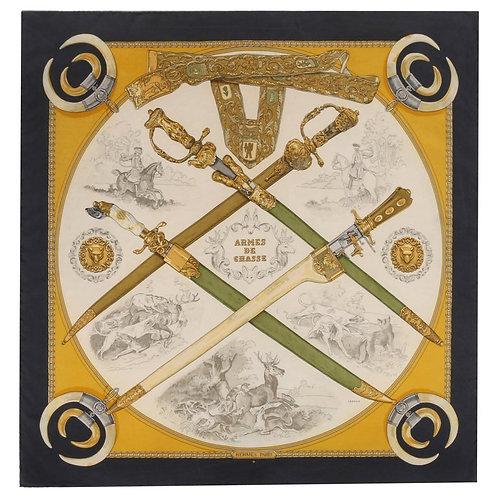 "Hermes ""Armes De Chasse"" Silk Scarf"
