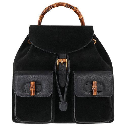 Gucci Suede Backpack Handbag