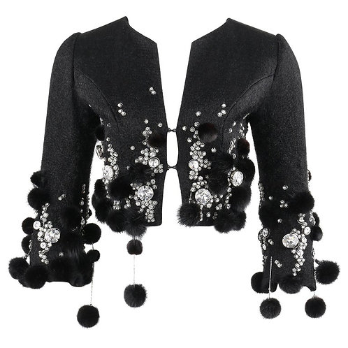 Pierre Balmain Haute Couture Crystal Mink Jacket