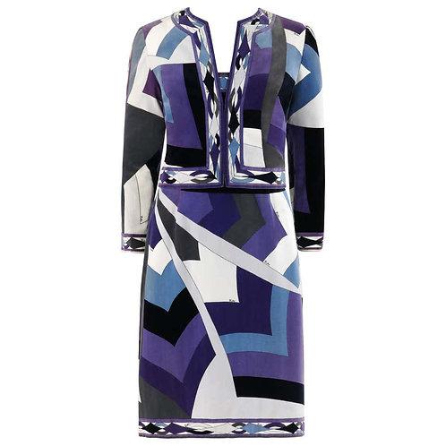 Emilio Pucci Velveteen Dress Jacket Set