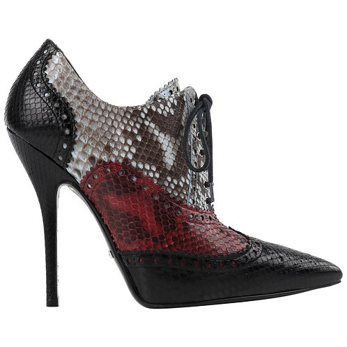 """Gucci """"Gia"""" Python Skin Ankle Boots"""