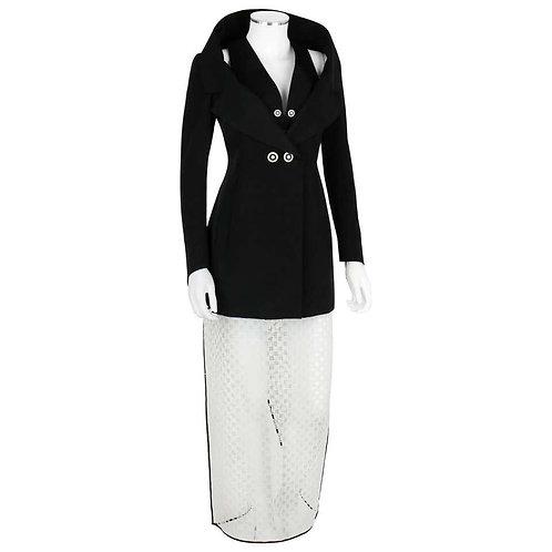Karl Lagerfeld Avant Garde Jacket Skirt Set