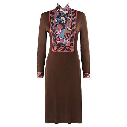 Emilio Pucci Op Art Mock Neck Dress