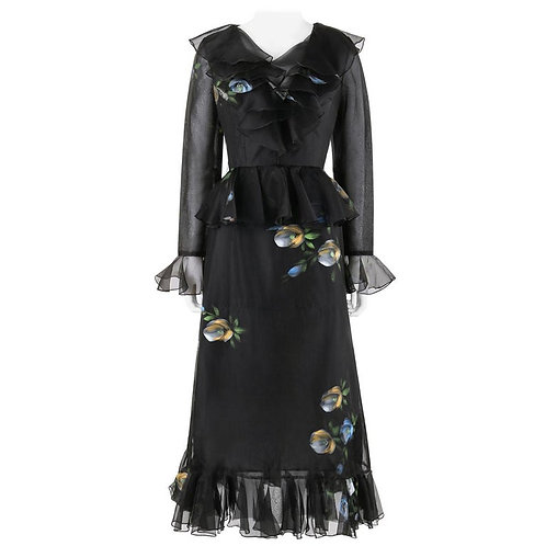 Pat Sandler for Lillie Rubin Hand Painted Dress