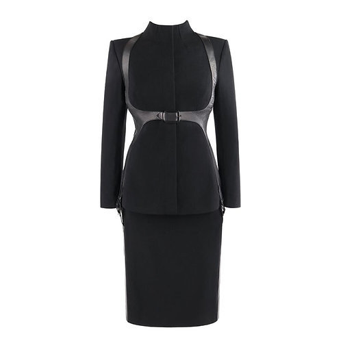 Alexander McQueen Harness Skirt Suit