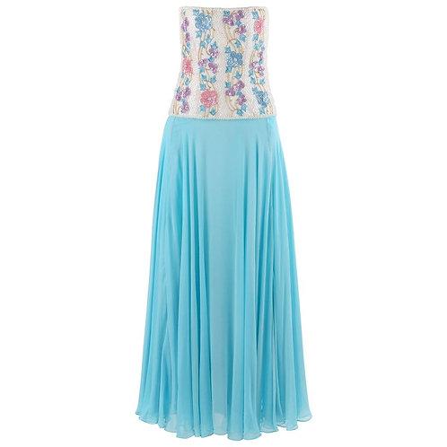 Richilene Silk Chiffon Strapless Dress