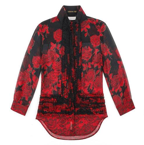 Alexander McQueen Silk Chiffon Blouse