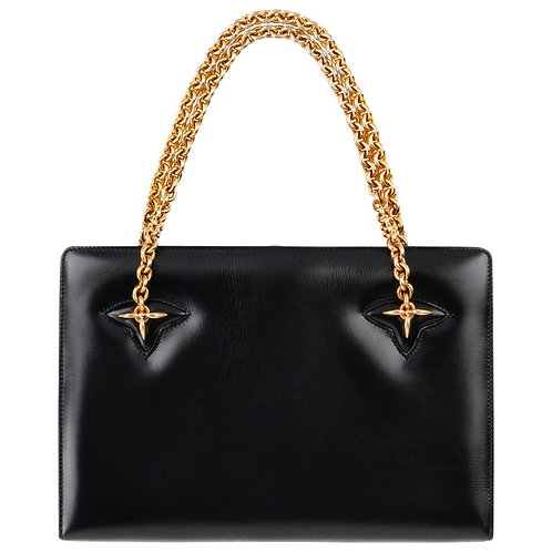 Gucci Leather Structured Handbag