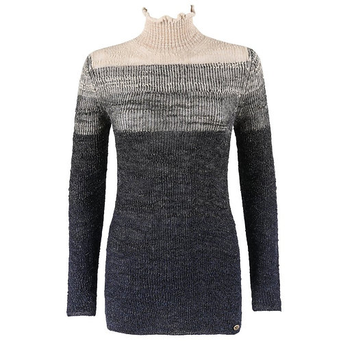 Chanel Ombré Turtleneck Sweater