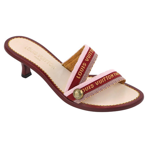 Louis Vuitton Logo Sandal Heels