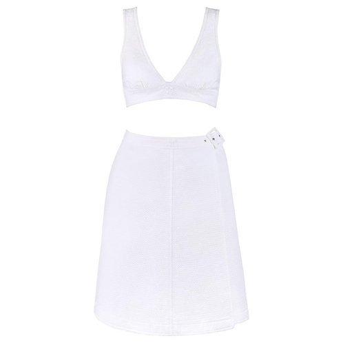 Courrèges Belted Wrap Skirt Set