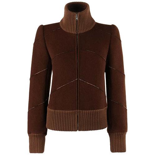 Alexander McQueen Wool Zip Up Jacket
