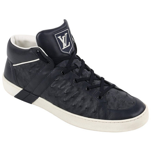 Louis Vuitton Ostrich Leather High Top Sneakers