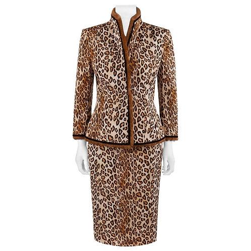 Alexander McQueen Silk & Fur Skirt Set