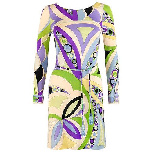 Emilio Pucci Silk Jersey Belted Dress