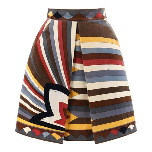 Emilio Pucci A-Line Pleated Skirt