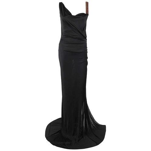 Roberto Cavalli Open Back Gown