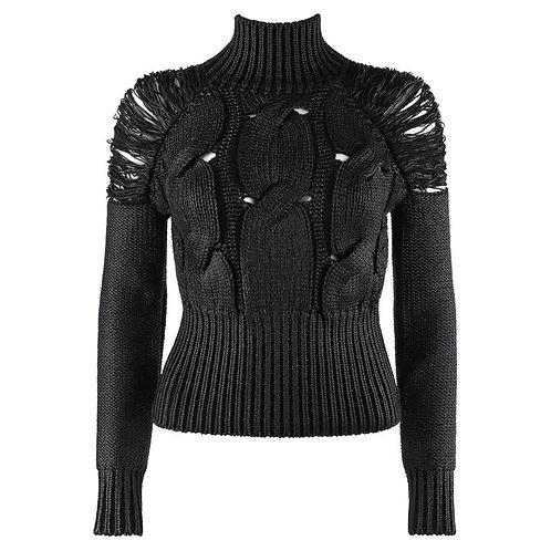 Alexander McQueen Glazed Turtleneck Sweater