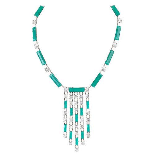 Art Deco c.1920's Bib Pendant Necklace