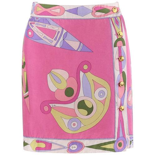 Emilio Pucci Silk Wrap Skirt