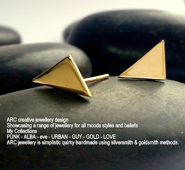 ARC GOLD triangle stud earrings - Copy.j