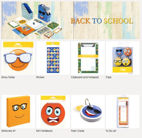 BacktoSchool Emoji Stationary Collection