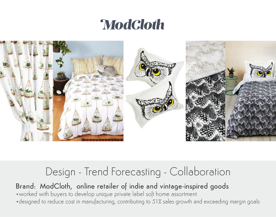 Design Trend Forecasting Collaboration for ModCloth