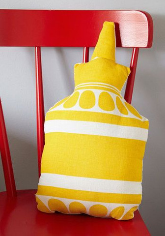 ModCloth Graphic Design Mustard Pillow.j