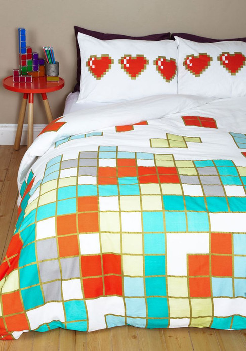 Modcloth Tetris Duvet and Pillow Shams