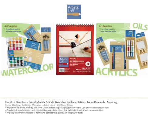 Artist'sLoft Packaging Design