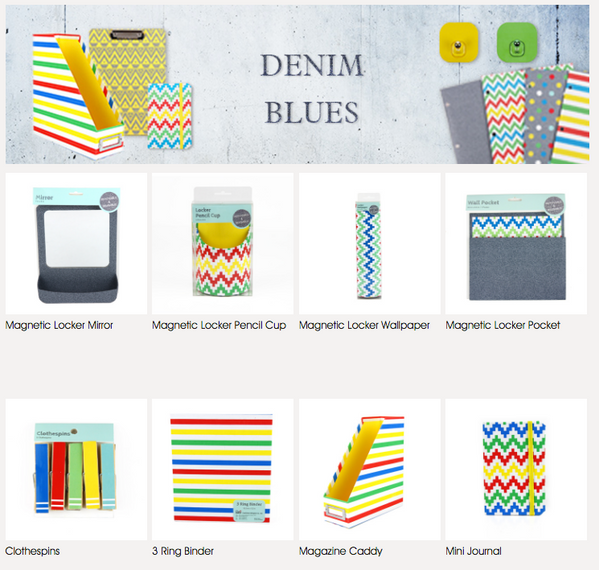 BacktoSchool Denim Stationary Collection