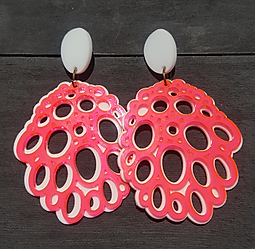 3D Printed Organic Shape Bronze Steel Pendant