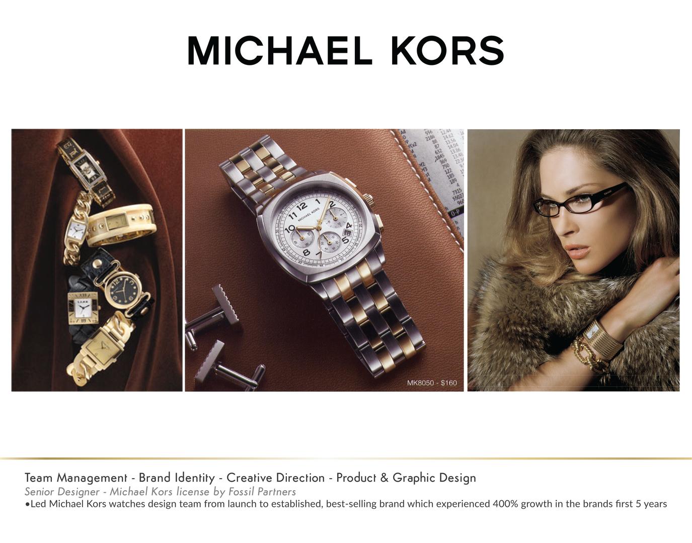Michael Kors Watch Adverstisments