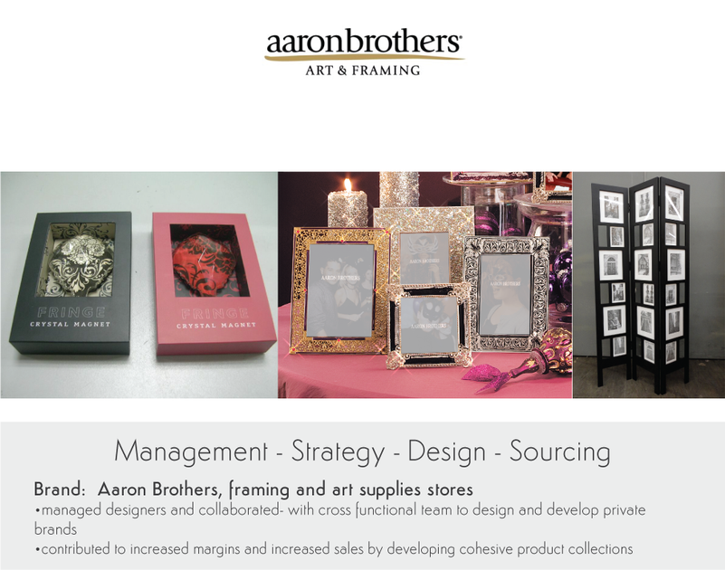 Management Strategy Design Sourcing for Aaron Brothers