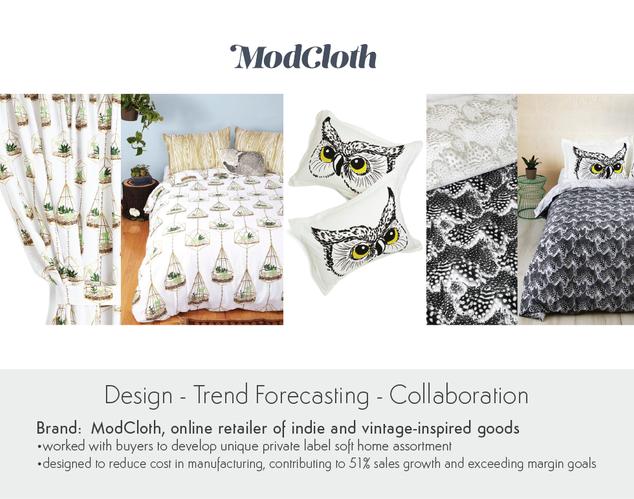 ModCloth Graphic Design for Soft Home