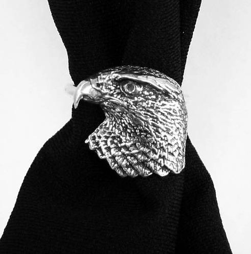 Hawk's Head Scarf Ring