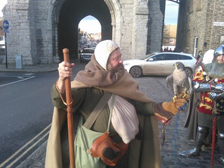 Steven Payne the first Pilgrim in 500 years to walk the Pilgrims way from Southampton, to the shrine